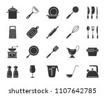 kitchenware silhouette icons... | Shutterstock .eps vector #1107642785