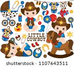 vector cowboy set. set includes ... | Shutterstock .eps vector #1107643511