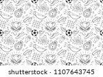 soccer vector background.... | Shutterstock .eps vector #1107643745