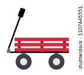 wagon transportation cartoon... | Shutterstock .eps vector #1107645551