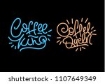 coffee king and queen. hand... | Shutterstock .eps vector #1107649349