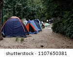 refugees and migrants in a... | Shutterstock . vector #1107650381