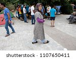 refugees and migrants in a... | Shutterstock . vector #1107650411