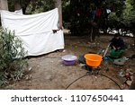 refugees and migrants in a... | Shutterstock . vector #1107650441
