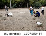 refugees and migrants in a... | Shutterstock . vector #1107650459