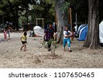 refugees and migrants in a... | Shutterstock . vector #1107650465