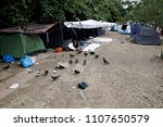 refugees and migrants in a... | Shutterstock . vector #1107650579