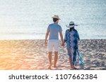 honeymoon couple romantic in... | Shutterstock . vector #1107662384