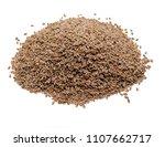 closeup pile of plantago ovata   Shutterstock . vector #1107662717