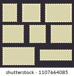 blank postage stamps frames... | Shutterstock .eps vector #1107664085