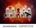 3d rendering business... | Shutterstock . vector #1107671714