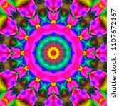 psychedelic background.... | Shutterstock . vector #1107672167