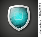 protected guard shield circuit... | Shutterstock .eps vector #1107672821