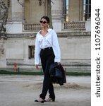paris  france  march 03 2018...   Shutterstock . vector #1107696044