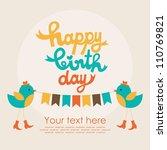 happy birthday card design.... | Shutterstock .eps vector #110769821