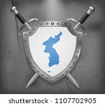 flag of united korea. the... | Shutterstock .eps vector #1107702905