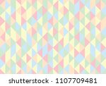 pastel retro triangular... | Shutterstock .eps vector #1107709481