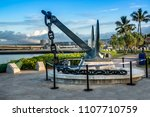 oahu  hawaii feb 1  2018  the... | Shutterstock . vector #1107710759