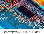 electronic circuit board close... | Shutterstock . vector #1107712391