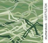 angular interlacing threads | Shutterstock .eps vector #1107712724