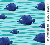 freshwater aquarium cartoon... | Shutterstock .eps vector #1107716084