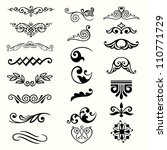 design elements  set 1  | Shutterstock .eps vector #110771729
