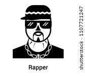 rapper icon vector isolated on...   Shutterstock .eps vector #1107721247