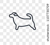 jack russell vector icon... | Shutterstock .eps vector #1107730709