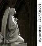 Small photo of Stone Angel In Repose In Cathedral