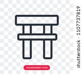 torii gate vector icon isolated ... | Shutterstock .eps vector #1107737819