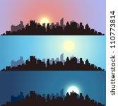 cityscape backgrounds | Shutterstock .eps vector #110773814