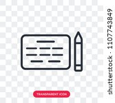 agreement vector icon isolated... | Shutterstock .eps vector #1107743849