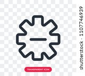 settings vector icon isolated... | Shutterstock .eps vector #1107746939