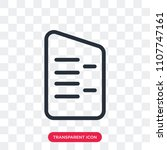 agreement vector icon isolated... | Shutterstock .eps vector #1107747161