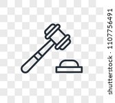 justice vector icon isolated on ... | Shutterstock .eps vector #1107756491