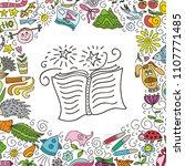 book. vector illustration | Shutterstock .eps vector #1107771485