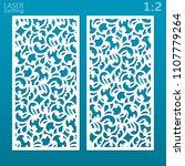 laser cut ornamental panel set... | Shutterstock .eps vector #1107779264