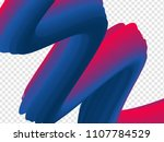 3d paint brush with vibrant... | Shutterstock .eps vector #1107784529