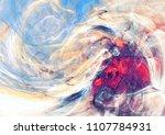 fantasy landscape. artistic... | Shutterstock . vector #1107784931