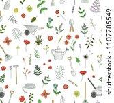 vector seamless pattern of... | Shutterstock .eps vector #1107785549