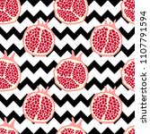 seamless pattern with... | Shutterstock .eps vector #1107791594
