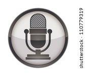 retro microphone vector icon. | Shutterstock .eps vector #110779319