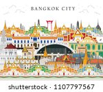 bangkok in thailand and... | Shutterstock .eps vector #1107797567
