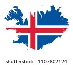 flag of iceland in the country... | Shutterstock .eps vector #1107802124