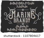 original label typeface named ... | Shutterstock .eps vector #1107804617