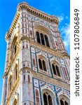 giotto's campanile bell tower... | Shutterstock . vector #1107806849