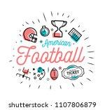 american football. vector... | Shutterstock .eps vector #1107806879