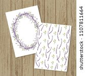 vector floral invitation or... | Shutterstock .eps vector #1107811664