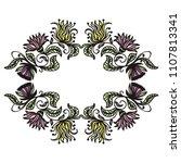 floral frame. vector... | Shutterstock .eps vector #1107813341