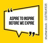 inspirational motivational... | Shutterstock .eps vector #1107814535